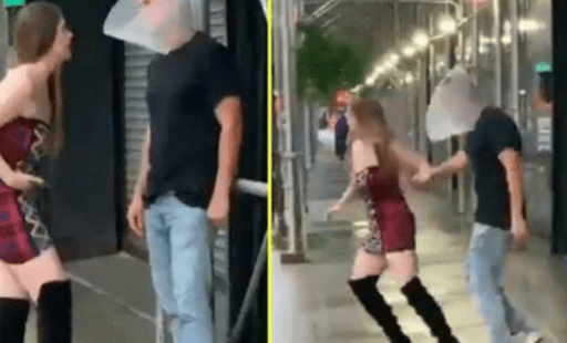 Mujer hace que su pareja utilice un cono de perro para no mirar a otras chicas devirales portada